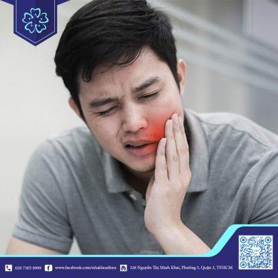 Đau nhức ầm ĩ do mọc răng khôn hàm dưới