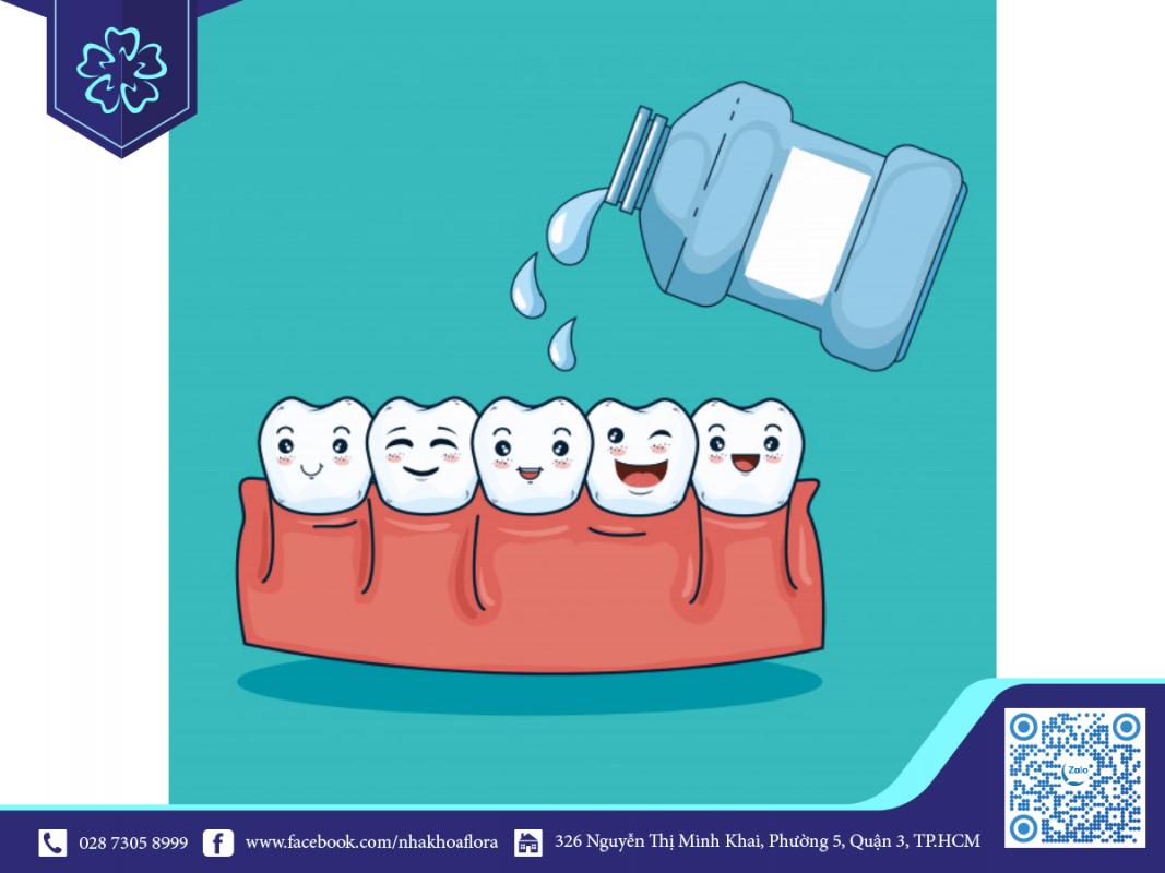 sử dụng nước súc miệng ngăn ngừa chảy máu răng