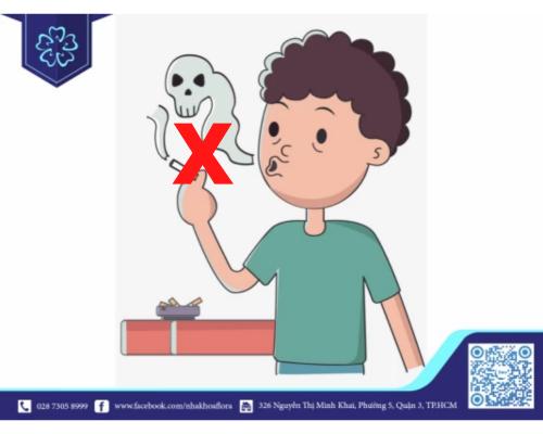 Không hút thuốc sau khi nhổ răng khôn