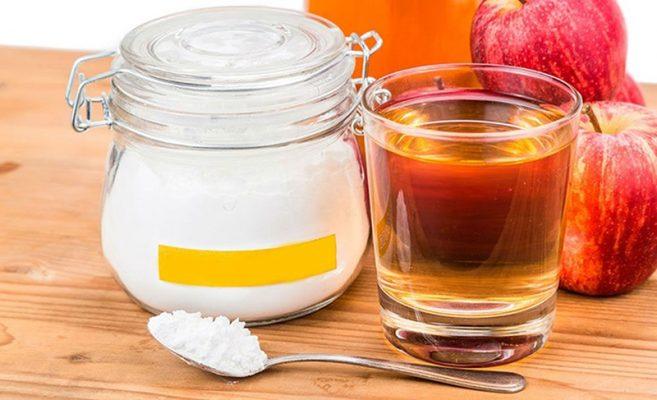 Các trị hôi miệng bằng baking soda và giấm táo