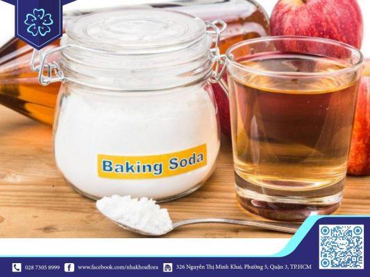 Chữa hôi miệng hiệu quả bằng baking soda và giấm táo (ảnh minh họa)