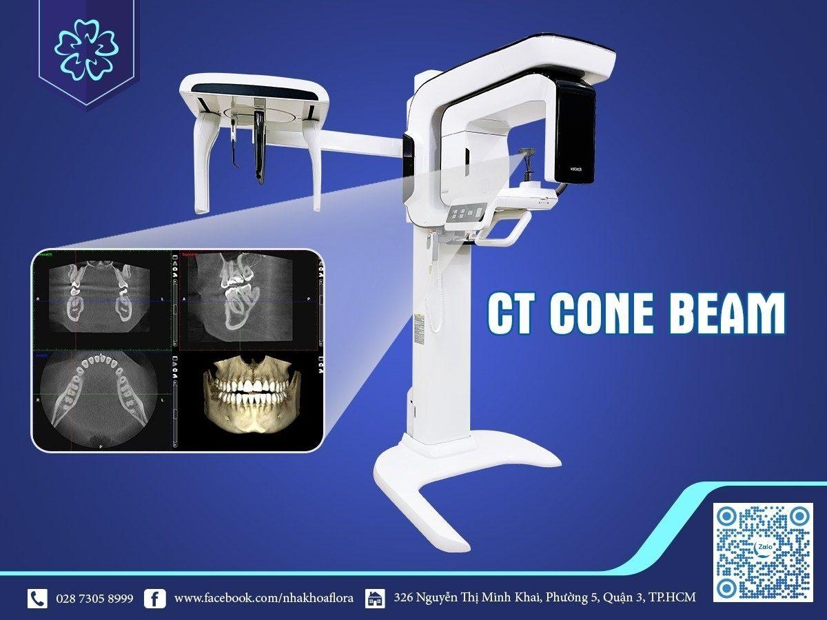 Máy CT Cone Beam tại nha khoa Flora - Thiết bị hỗ trợ cấy ghép Implant