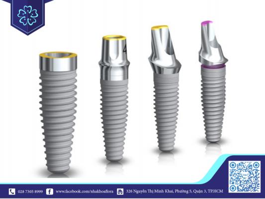 Kích thước trụ Implant khác nhau tùy thuộc vào nhu cầu cấy ghép