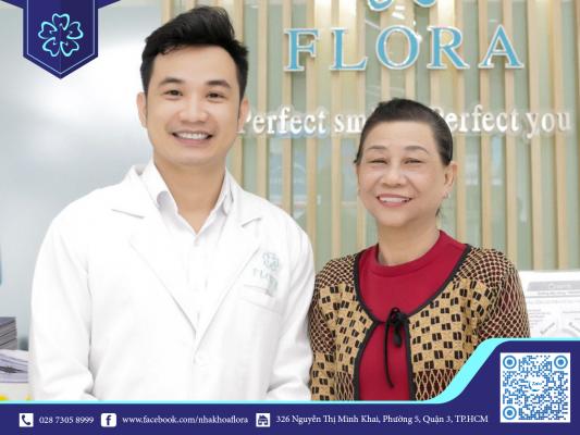 Khách hàng lựa chọn nha khoa Flora cho dịch vụ bọc răng sứ