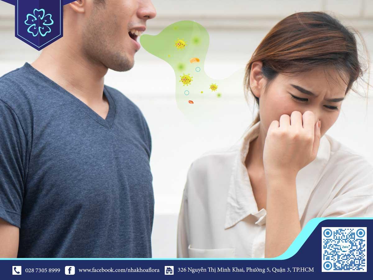 Bọc Răng Sứ có thể gây ra tình trạng hôi miệng